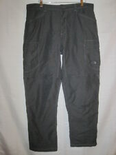 The North Face Convertible hiking pants men's 38 gray nylon/cotton outdoors