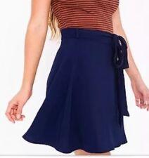 ORIGINAL American Apparel Demi Wrap Skirt Indigo (Navy Blue) Crepe XS / S NEW