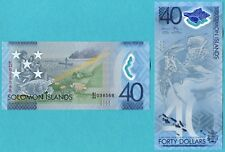 Solomon Islands 40 Dollars 2018 UNC**New Polymer - Commemorative (only 100k)