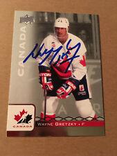 Wayne Gretzky SIGNED 17/18 UPPER DECK CANADA JUNIORS card #100 TEAM CANADA