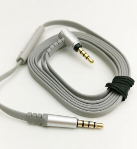 4ft Audio cable for sony mdr-x10 x 10 headphones with Mic control remote Gray