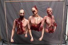 Hanging Torso Meat 3 Pack Halloween Haunted House The Walking Dead Horror Props
