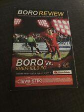Scarborough Athletic V Sheffield FC 2013 Soccer/football Programme