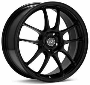 Enkei PF01 17x8 5x114.3 50mm offset Black Wheel