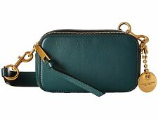 NWT Marc Jacobs Recruit Crossbody Leather Small Camera Bag in Green Jewel