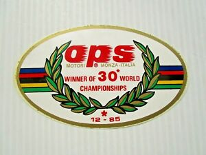 VINTAGE OPS STICKERS X 2 - WORLD CHAMPIONS 30 WORLD CHAMPIONSHIP WINNERS