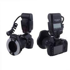 Meike MK-14EXT Flash anulare per DSLR Nikon macro i-TTL  AF n°7 + adattatori