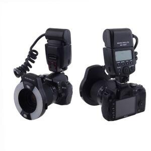 Meike MK-14EXT RING Flash  DSLR Nikon macro ODONTO i-TTL  AF n°7 + adattatori