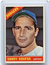 1966 TOPPS BASEBALL #100 SANDY KOUFAX, LOS ANGELES DODGERS, HOF, 021217