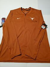 Nike Dri Fit Texas Longhorns Football Coaches Zip Jacket Mens Size Large
