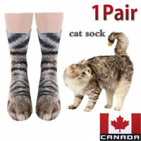 Animal Cat Paw Feet 3D Print Foot Cotton Socks Funny Unisex Adult/Kids (1 Pair)