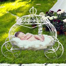 Newborn Baby Photo Props Metal Pumpkin Car Cinderella Carriage Wheel Basket Bed