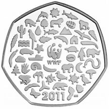 Rare Commemorative 2011 WWF Charity Great British Coin Hunt Collection 50p