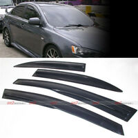 Window Shade Sun Rain Mugen Wavy Guard Visors fit Mitsubishi Lancer Lancer / EVO