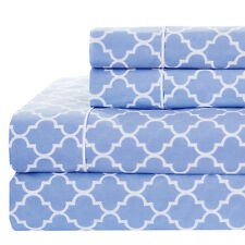 Ultra Soft Front Brushed Printed Meridian 100% Cotton Percale Sheets Weave 250TC