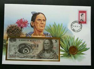 [SJ] Mexico Dona Josefa Ortiz de Dominguez 1997 FDC (banknote coin cover) *3 in1