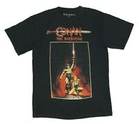 Conan The Barbarian Men's T Shirt Valeria Arnold Schwarzenegger Graphic Tee