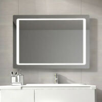 "LED Lighted Bathroom Mirror Wall Mounted Mirror with Sensor Switch 48""x24"" Bath"