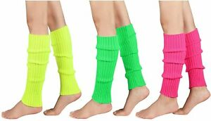 Leg Warmers for Women Girls 80s Ribbed Leg Warmer for Neon Party Knitted Fall Wi