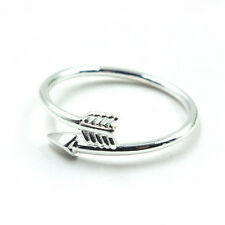 Gold/Silver Adjustable Thin Band Ring Women Urban Arrow Above Knuckle Midi Rings