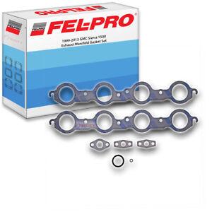Fel-Pro Exhaust Manifold Gasket Set for 1999-2013 GMC Sierra 1500 4.8L 5.3L nb