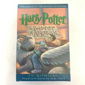 Harry Potter & The Prisoner of Azkaban 7 Cassette Audiobook By JK Rowling - New