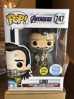 Funko Pop! Marvel Avengers Endgame Loki #747 GITD Funko EXCLUSIVE