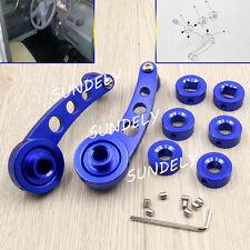 2Pcs Blue Aluminium Alloy Car Auto Window Winder Crank Door Glass Handle