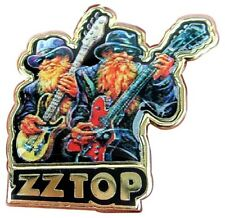 TEXAS ROCKERS ZZ TOP ENAMEL PIN BADGE BEARD DUSTY HILL BILLY GIBBONS