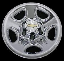 """Set of 4 Chevy 1500 6 Lug 16"""" Chrome Wheel Skins Rim Simulators Hub Caps Covers"""