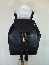 NWT Tory Burch Black Leather Thea Large Backpack $495