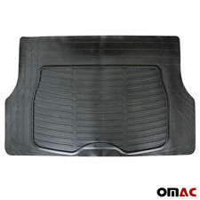 OMAC All Weather Rubber Black Trunk Cargo Floor Mats