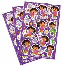 3 Sheets Dora the Explorer Diego Boots Backpack Stars Scrapbook Stickers