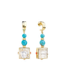 Lalique Arethuse Earrings Clear Crystal, Vermeil, Pin Clasp System