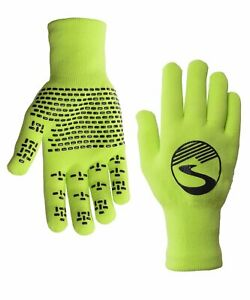 2022 Crosspoint Knit Waterproof Gloves Neon Green by Showers Pass