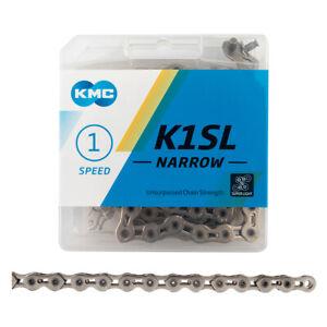 """KMC K1SL Narrow Chain 1/2X3/32"""" 100L 1speed SILVER"""