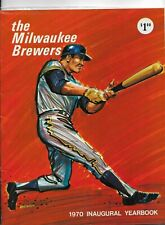 1970 INAUGURAL MILWAUKEE BREWERS YEARBOOK - EXCELLENT CONDITION  - HANK AARON