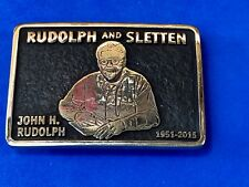 Rudolph and Sletten custom Anacortes brass belt buckle - CA General Contractors