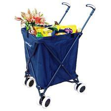 Folding Shopping Cart - Blue Versacart Utility Cart Transport Up to 120 Pounds