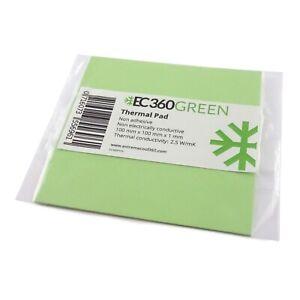 EC360® GREEN 2,5W/mK Wärmeleitpad (100 x 100 x 1,0 mm) I GPU RAM ThermalPad