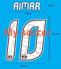 AIMAR #10 S.L. BENFICA Home 2010-11 LIGA SAGRES NAME NUMBER PRINT