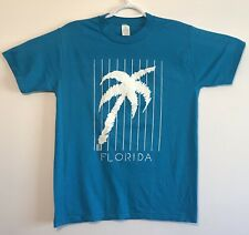 vtg Vintage 80s 1989 Florida Palm Trees Made in USA Single Stitch T Shirt Medium