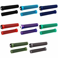 ODI BMX SOFT X-LONGNECK FLANGELESS BICYCLE GRIPS 160mm SCOOTER CHOOSE COLOR!!