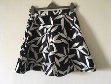 "BNWT Coast Wren Mono Jacquard Skirt ~ Size 12 Small 14 Waist 40cm/31"""
