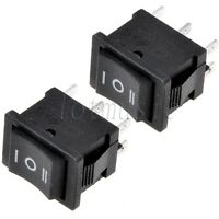 2 Pcs 6-Pin DPDT ON-OFF-ON 3-Position Snap in Boat Rocker Switch
