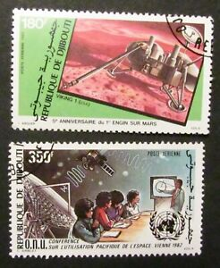 Republic of Djibouti 180 francs + 350 francs stamps 1982 used - full gum