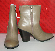 NEW GUESS YADRA TAUPE BROWN LEATHER WOMENS BOOTIE,BOOTS,SHOES w/HEEL SIZE- 7.5