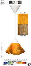 2 Jezebel Radiance Amber Yellow Gold Small Lily Pendant Lights w/ White Hardware
