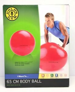 Gold's Gym 65 CM Body Ball - Foot Air Pump Included - Pink
