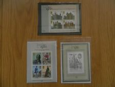 1978 FIRST, 1979 SECOND, 1980 THIRD BRITAIN'S MINIATURE SHEETS IN MINT CONDITION